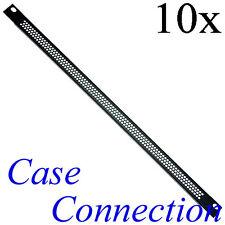 10x 0,5HE Rackblende - Lüftungslöcher - gekantet - Stahl Ventilation Rack Panel