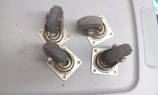 Lot of 4 used 3 x 1 in. rubber wheels