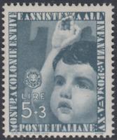 Italy Regno - 1937 Colonie Estive Sass. n.415 cv 225$ MNH**