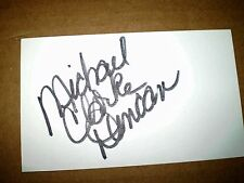 Michael Clark Duncan Signed  Autographed 3X5 INDEX CARD WHITE BOLDLY
