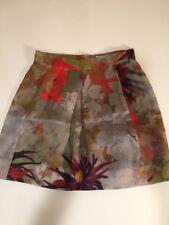 df9daf1c60a9 NEW Women's ERDEM Watercolor SILK FLORAL Print KNEE LENGTH SKIRT Size US 6  UK 10