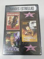 EL PACTO DE BERLIN + PERROS DE PAJA + EL DON DEL CORAJE DVD ESPAÑOL ENGLISH NEW