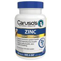 Caruso's Zinc 120 Tablets Immune System Skin Reproductive Health Carusos