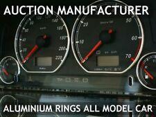 For Seat Cordoba I 1993-1999 Polished Aluminium Dial Surrounds Speedo Rings x4