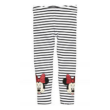 Kids Girls Skinny Leggings Cartoon Minnie Mouse Casual Stretchy Pants Trousers