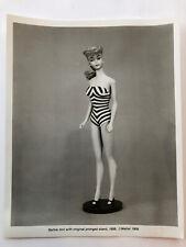 Barbie Doll B&W Photo- Mattel 1959 (8X10)