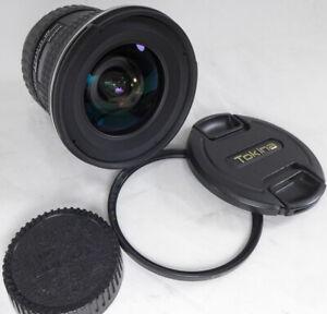 Tokina Nikon DX mt AF 11-16mm f2.8 AT-X SD ultra wide zoom lens w/caps nice NR