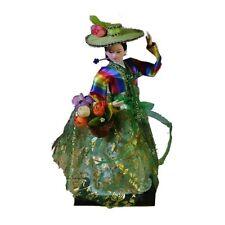 Vintage Korean Costume Lady Standing doll Hanbok Court dress Girl geisha