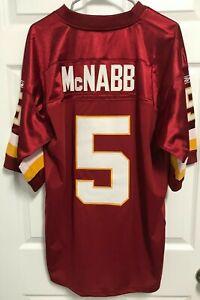 DONOVAN McNABB 5 Washington Redskins Men Burgundy Sewn Jersey 52 Reebok NEW TAG