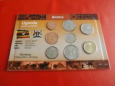 * Uganda 8kms blister/* 1 - 500 SHILLINGS * 7 MONETE. (alb7)