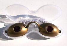 LUNETTES or dorées de bronzage pour SOLARIUM goggles gafas anti UV + boite