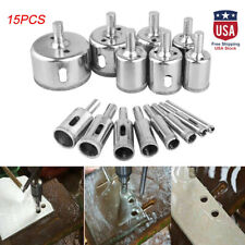 15pcs/set 6-50mm Diamond Hole Saw Tile Ceramic Glass Porcelain Marble Drill Bit