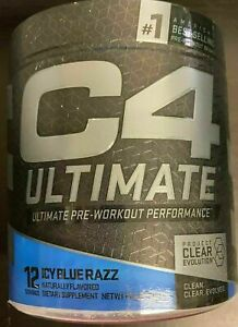 Cellucor C4 ULTIMATE Pre Workout Energy 12 Servings Icy Blue Razz
