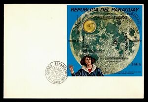 DR WHO 1973 PARAGUAY FDC NICOLAUS COPERNICUS S/S SPACE  g10604