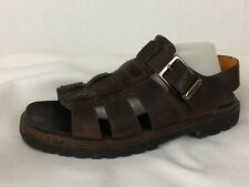 Timberland Brown Leather Fisherman Slingback Sport Sandals Womens 11 M Open Toe