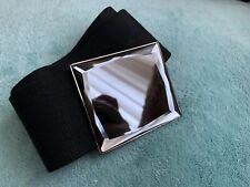 Accessorize Black Elasticated Wide Waist Belt Good Used Condition