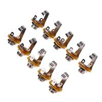 10pcs  6.35mm 1/4in Guitar Jack Socket Connector Female for Electric Guitar Bass