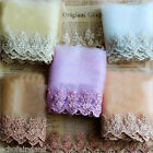 Embroidered Tulle Mesh Lace Edge Trim Sewing Wedding Bridal Craft DIY Decor