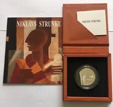 """5 EURO Lettland 2019 Silber Munze """" Niklāvs Strunke"""" Lettishe Mahler  ,Im Lager"""