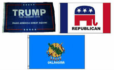 3x5 Trump #1 & Republican & State of Oklahoma Wholesale Set Flag 3'x5'