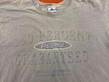 Vintage Nothing Else Is A Pepsi T Shirt Short Sleeve Gray Size L/XL Soda Pop