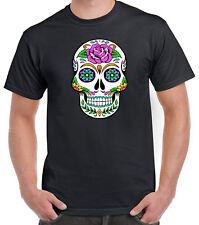Azúcar Calavera Día de los muertos Dia De Muertos Para Hombre de Algodón Camiseta