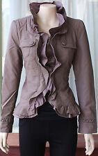 Caroline Morgan  Mocha  Leather Look Short Jacket          SIZE 8    BRAND NEW