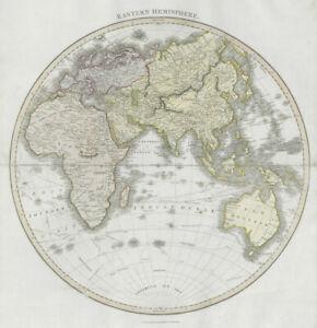 """Eastern hemisphere"". Europe Africa Asia Australasia. THOMSON 1830 old map"