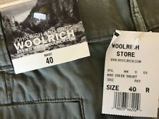 NWT Woolrich John Rich & Bros MNS Hiker Shorts green size 40R zip fly flat cotto