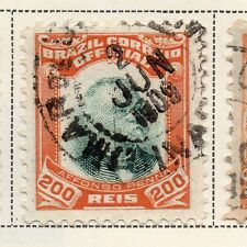 Brazil 1906 Official Stamps Early Issue Fine Used 200r. 118350