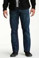 Nudie Herren Regular Straight Fit Bio Denim Jeans Hose | Hank Rey Dusty Steel