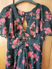 Beautiful Floral Flamenco Style Maxi Dress - Sz 8