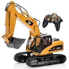 Top Race 15 Channel Full Functional Professional RC Excavator Battery Powered