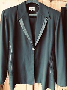 Black Ladies Tailored Suit Size 24