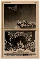 Julie Driscoll LP Frank Zappa film advert 1971