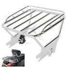 Chrome Detachable Luggage Rack For Harley Touring Street Glide Road King 1997-08