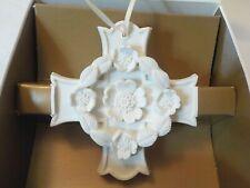 Margaret Furlong '98 Blooms of Hope Cross Original Box Porcelain Bisque Ornament