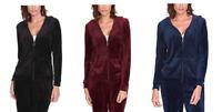NEW Gloria Vanderbilt Women's Ellie Velour Full Zip Jacket - VARIETY
