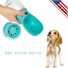 New listing Dog Portable Travel Water Bottle Dispenser Drinking Container with a Leash