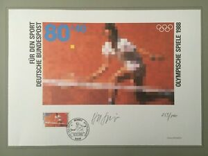 PHILARTES EDITION 1988 GERMANY SPORTS TENNIS HANDSIGNED BY ARTST !! RARE !