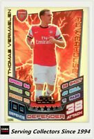 2012-13 Match Attax 100 Club Foil Card #506 Thomas Vermaelen (Arsenal)