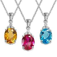 Necklace Infinity Silver Pendant Sterling 925 Charm Jewelry Love Women S Crystal
