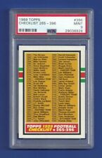 1989 TOPPS #396 CHECKLIST 265-396 PSA 9 MINT POP 1