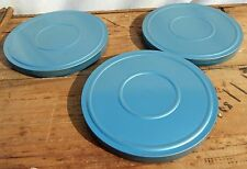 "8mm Cans Blue Metal Lot of 3 Take Up Reel Container 6"" x 5/8"""