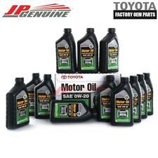 GENUINE TOYOTA LEXUS OEM 0W20 SYNTHETIC MOTOR ENGINE OIL - 12 QUARTS 00279-0WQTE