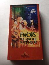 Ewoks Movie The Battle For Endor 1985 Lucasfilm Ltd. VHS 1990 MGM Star Wars
