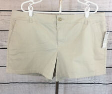 Liz Claiborne Classic Chino Beige Shorts Women's Size 18 NWT