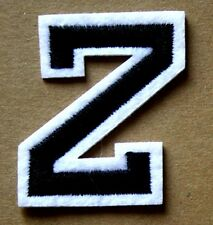 Letter Z Patch Alphabet  Iron Sew On Applique Badge Motif