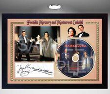 Freddie Mercury and Montserrat Caballé Barcelona SIGNED FRAMED PHOTO AND CDDisc