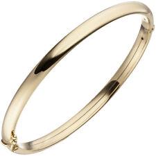 NEU 5 mm Armreif Armspange Armband oval Scharnier 375 echt Gold Gelbgold 9 Karat